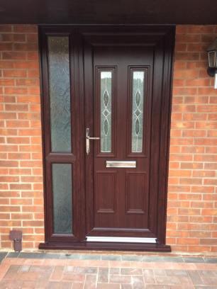 brown door one