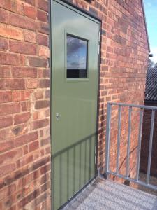 New steel door fitted by Peak Property Maintenance