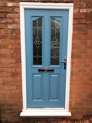 new blue door