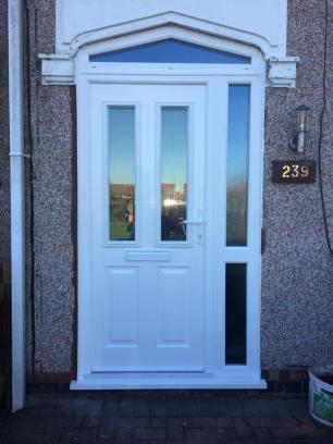 new brown door